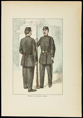 1896 - Wächter der Frieden. Gravur einheitliche und - Einheitliche Kostüme