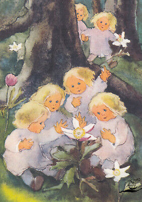 Kunstkarte: Mili Weber - Kommt schaut, die Anemonen blühen