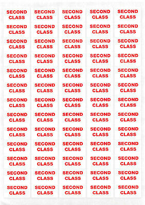 650+ - 2nd Second Class Sticky Labels Small Stickers Post Details Postal Service
