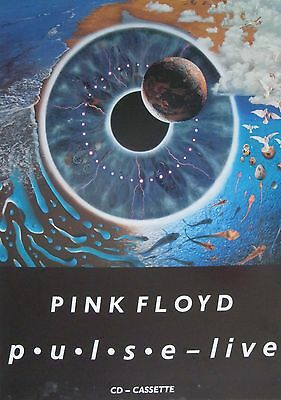 Pink Floyd  Pulse  New Zealand Promo Poster From 1995   Psychedelic Rock Music