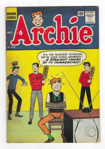 ARCHIE COMICS no.142 SILVER AGE SERIES COMIC BOOK Jughead Betty & Veronica 1963