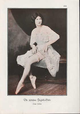Werbung 1928 Bildnis Porträt Fotografie Die schönsten Ziegfeld-Girls Lora Foster