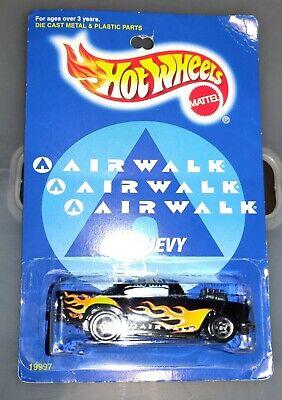 Hot Wheels Ltd Edition Black With Flames Airwalk '57 Chevy Bel Air #19997 Mattel