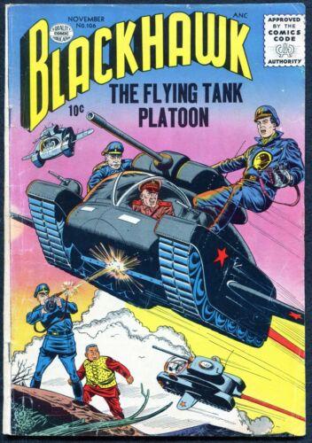 Blackhawk #106, $0.10 Nov. 1956, Quality Comics - FN