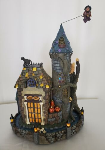 """Costco Halloween Haunted House Animated Audio/Lights 19"""" High Flying Witch"""