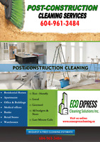 Post Construction Cleaning Services 604-961-3484