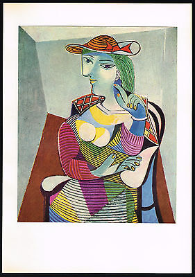 1950s Old Vintage Abstract Woman Lady Pablo Picasso Art Offset Lithograph Print