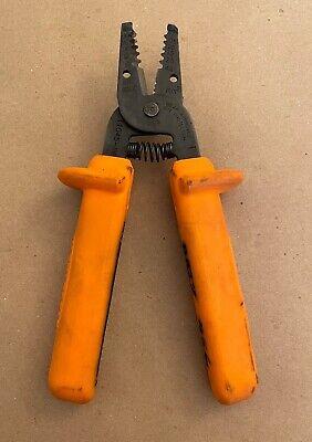 Klein Tools 11045-ins Insulated Wire Strippercutter - Orange Pliers