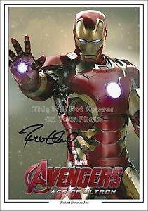 Avengers Iron Man Robert Downey Jr Signed Photo 1st Generation Pre-Print  A4