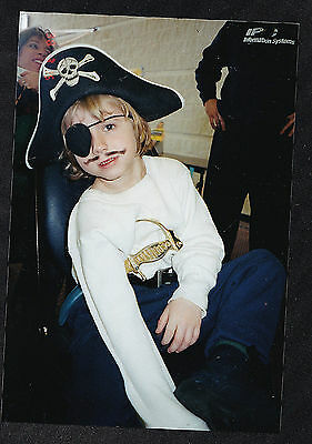 Old Vintage Photograph Adorable Little Boy Wearing Pirate Costume - Halloween? (Little Boy Pirate Costume)