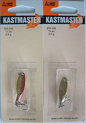 Two Great Colors! Acme Tackle KASTMASTER Fishing Lures 2 Pks 1//2 Ounce