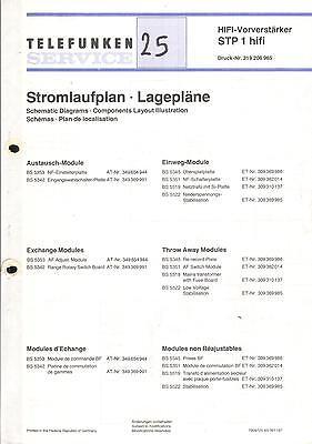 Telefunken Original Service Schaltplan für STP 1 hifi