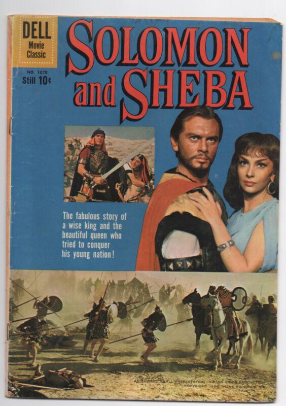 DELL FOUR COLOR  1070  SOLOMON AND SHEBA  1959  COMIC BOOK