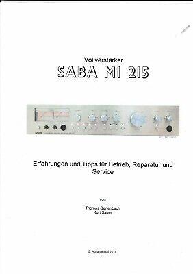 Saba  Ratgeber Reparaturanleitung  Erfahrungen Service für Vollverstärker MI 215