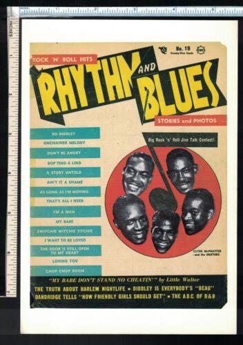Soul R&B Post Card/Mini Poster Rhythm & Blues Rock Hits 1955 Magazine (5.5x8)