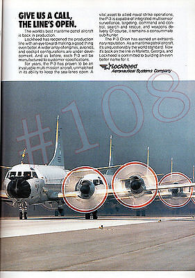 P-3 ORION Lockheed Aeronautical Systems ADVERT Original 1993 Advertisement