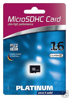 Platinum Class 10 micro-SDHC 16GB Speicherkarte schwarz 177327