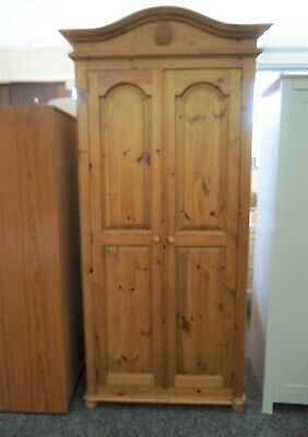 LOVELY SOLID PINE DOUBLE DOOR WARDROBE