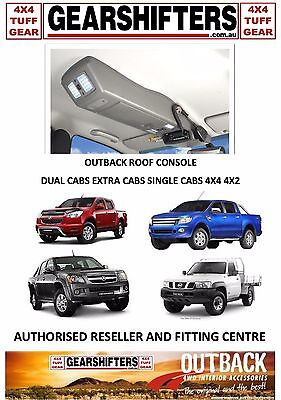 OUTBACK ACCESSORIES ROOF CONSOLES OFF ROAD 4X4 UTES WAGONS EXTRA CABS DUAL CABS