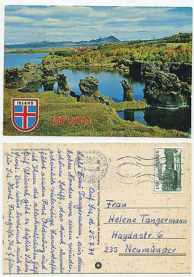 21442 - Myvatn, Island - AK, gelaufen von Norwegen nach Deutschland 29.7.1979