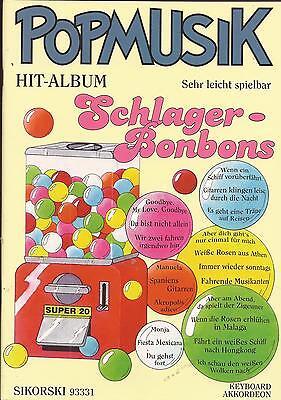 Akkordeon Keyboard Noten - SCHLAGER BONBONS -  POPMUSIK HIT-ALBUM -  -