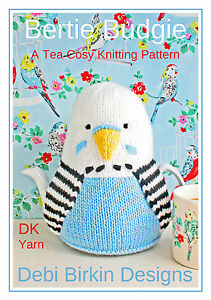 BUDGIES budgerigar teacosy knitting pattern tea cosy cosies cozy bird cozies