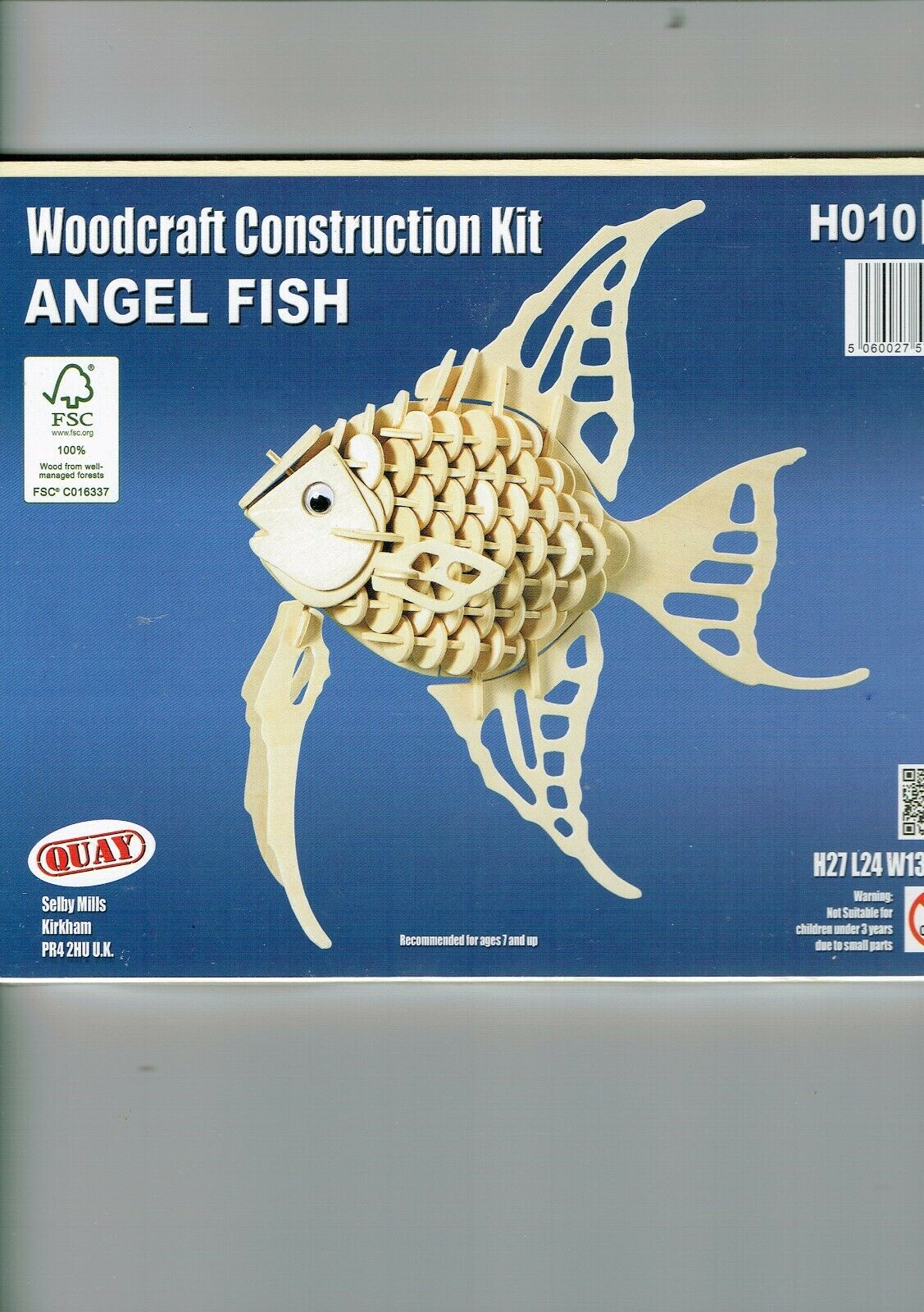 Woodcraft  Construction Kit  Childs Holz Modell 3D Puzzles Geduldspiele Of Fish