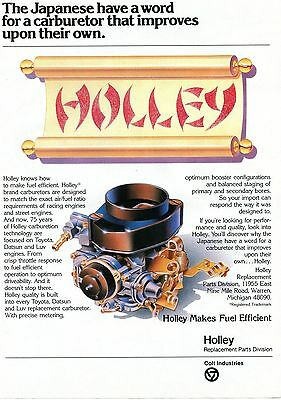 1982 Holley Brand Carburetors Makes Fuel Efficient Japanese Magazine Ad