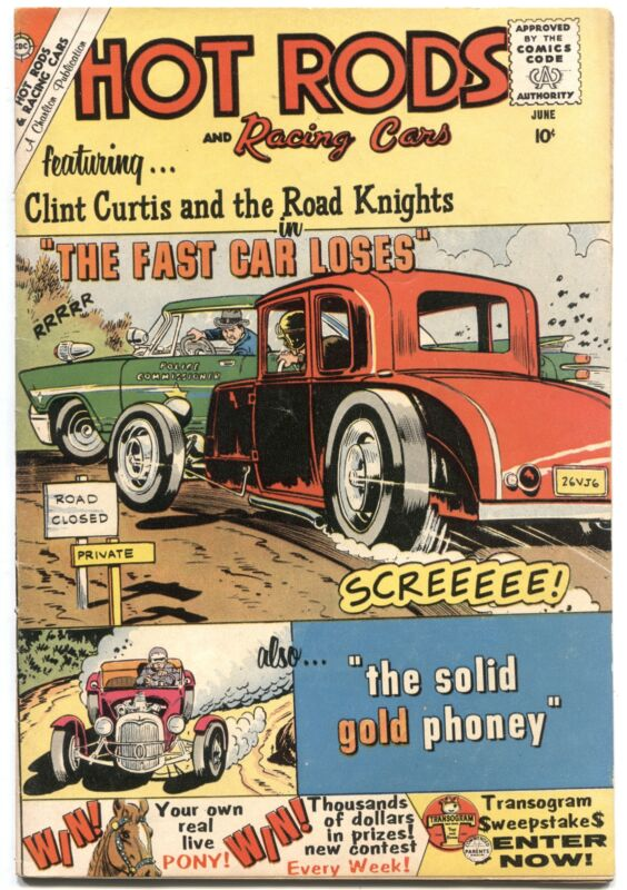 HOT RODS & RACING CARS #46-1960-DIRT TRACK MIDGET RACERS-CHARLTON