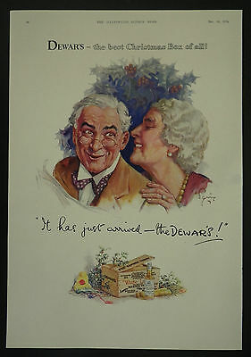 The Best Christmas Box Of All Dewar's Whisky 1932 1 Page Advertisement Advert Ad ()