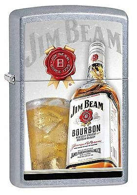 Zippo Windproof Lighter With Jim Beam Bourbon Bottle & Logo, 29124, New In Box