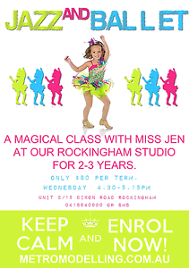 Jazz & Ballet tiny tots dance classes $80 per term Rockingham Rockingham Area Preview