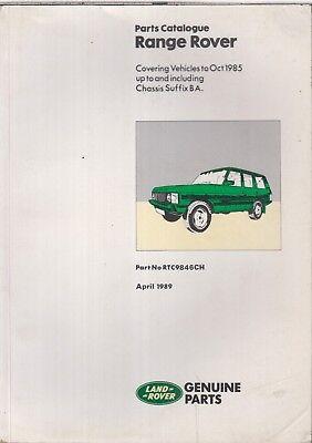RANGE ROVER MK1 3.5 LITRE V8 2- & 4-DOOR (1970-85) ORIG. FACTORY PARTS CATALOGUE
