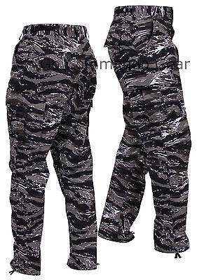 Men's Urban Tiger Stripe Camo BDU Pants - Military Tactical Uniform Style Pants