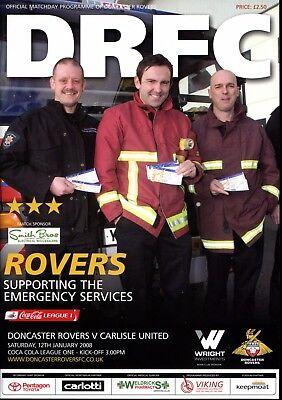 B13 Doncaster Rovers v Carlisle United 12/01/08 League 1