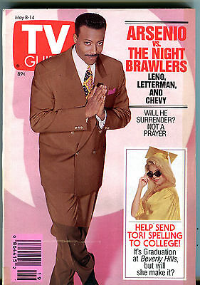Tv Guide May 8 14 1993 Arsenio Hall Tori Spelling Ex 011216Jhe