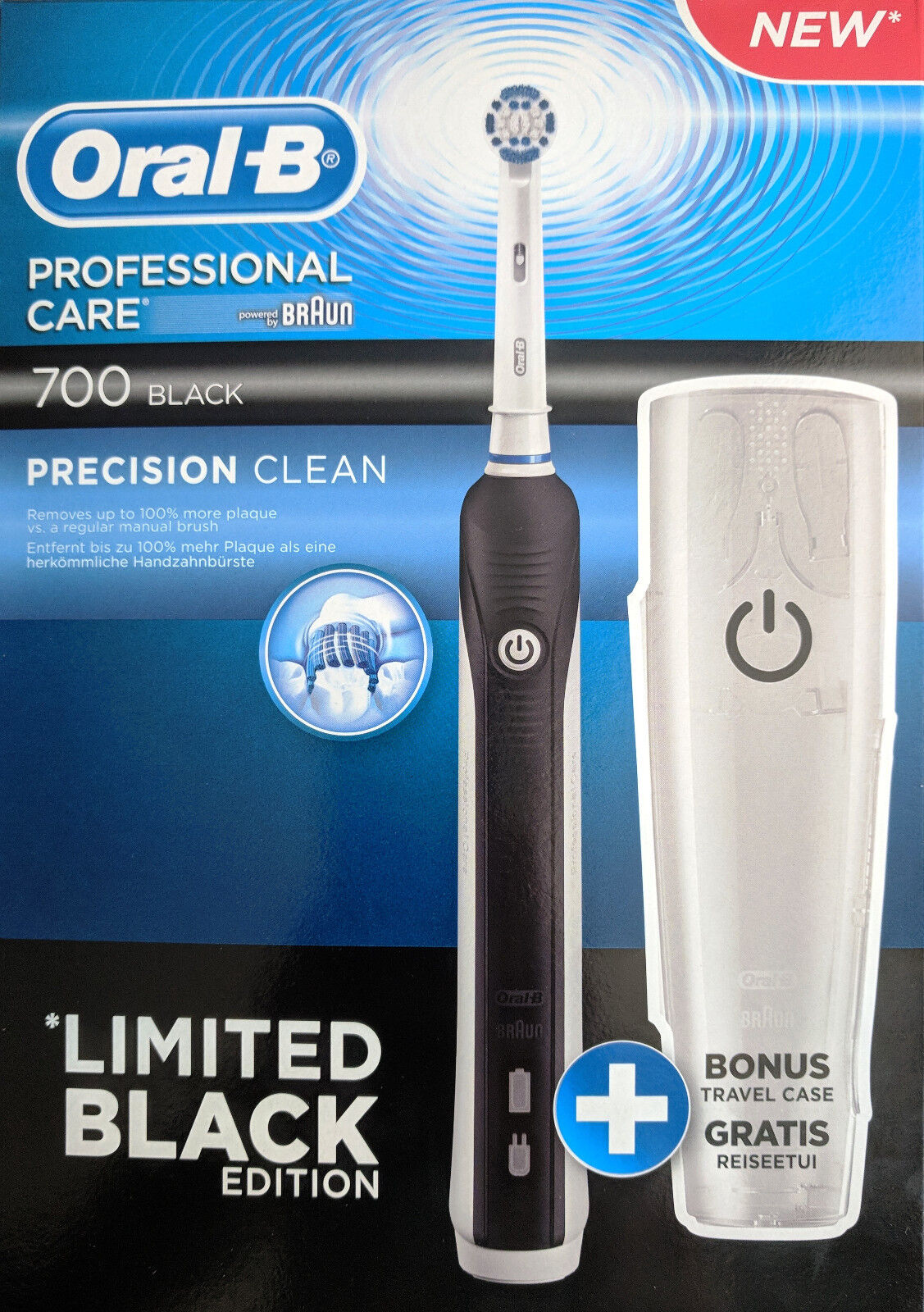 Oral-B 700 Black Elektrische Akku-Zahnbürste