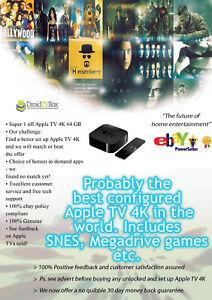 Apple TV 4K 64 GB Krypton DroidTVBox VIP +Browser+Provenance+Games +Best config