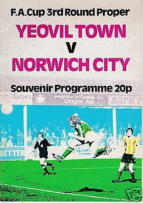 YEOVIL TOWN V NORWICH CITY   FA CUP  5/1/80