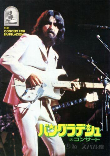 CONCERT FOR BANGLADESH/GEORGE HARRISON 1972 JAPAN MOVIE PROGRAM-DYLAN-CLAPTON