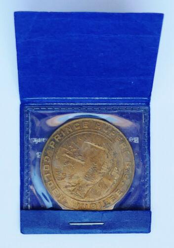 PRINCE RUPERT, BC CANADA ~ GOLDEN JUBILEE 1910-60 ~ GOOD FOR $1 TOKEN + ENVELOPE