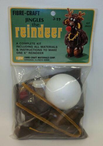 Vintage Fibre Craft Jingle the Reindeer Kit - Sealed Package