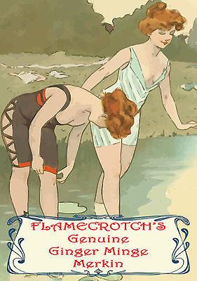 Flamecrotch's Ginger Minge Merkin ~ Novelty Joke Prank Pubic Wig