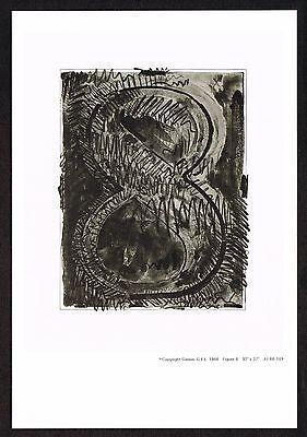 1960s Vintage Jasper Johns Number 8 Eight Offset Litho Miniature Promo Art Print