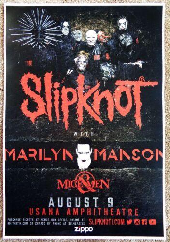 SLIPKNOT 2016 Gig POSTER Salt Lake City MARILYN MANSON Concert Utah