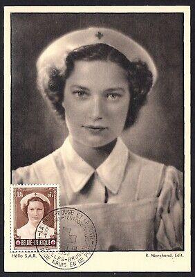 Belgium B533 First Day postcard of Princess Josephine-Charlotte, 1953