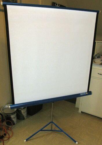 "Da-Lite Flyer Projector Projection Screen 40"" x 40"", Tripod Movie Slideshow, USA"
