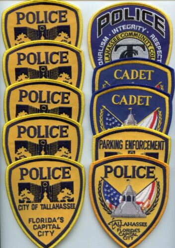 TALLAHASSEE FLORIDA Patch Lot COLLECTORS SPECIAL10 Police Patches POLICE PATCH