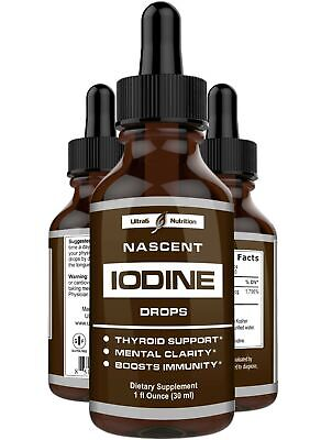 Nascent Iodine Supplement - Complete Thyroid Iodine Solution for Thyroid -
