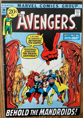 THE AVENGERS COMIC (MARVEL,1971) #94 BRONZE AGE ~